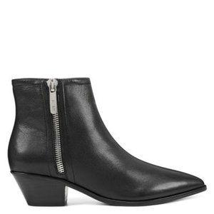 Nine West Elissa Black Leather Booties   New! 5.5